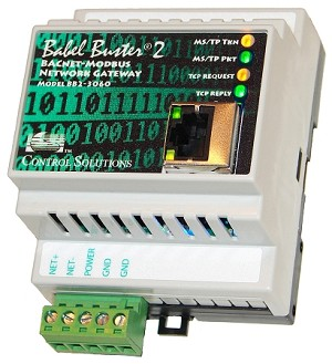 Babel Buster BB2-3060 is a BACnet MS/TP to Modbus TCP gateway. The BB2-3060 is a TCP client making Modbus TCP devices accessible on a BACnet network. BB2-3060 can also be a BACnet client making BACnet devices accessible from a Modbus TCP network.