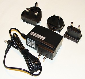 International power supply for Babel Buster SP, includes US, UK, European, and Australian exchangeable plugs (all included in same International kit). Output is 24VDC. Input is 100-240VAC, 50-60Hz.