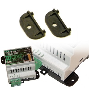 Converts DIN rail mount devices such as Babel Buster to wall mount.