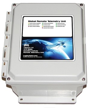 Model VP4-2090 Global Remote Telemetry Unit is ideal for demanding remote alarm monitoring and data logging with optional GPS tracking. It includes both cellular and satellite radios built in, 18 inputs, 2 outputs, Modbus RTU and J1939.